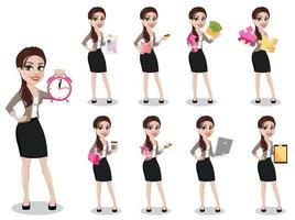 Business woman in casual clothes vector