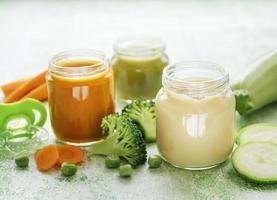 Jars of veggie juice photo