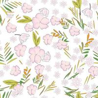 Cute sweet floral seamless pattern vector