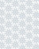Snow seamless pattern, winter holiday snowflakes ornamental seasonal background. vector