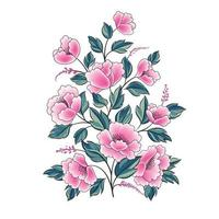 Floral background. Flower rose bouquet isolated. Flourish spring floral greeting card design vector