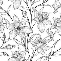 Floral seamless pattern. Flower background. Floral tile ornamental texture with flowers. Spring flourish garden vector