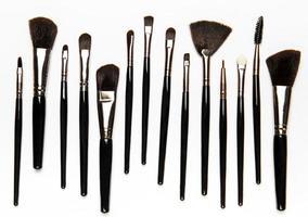 Set of makeup brushes photo
