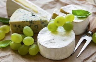 uvas y queso foto