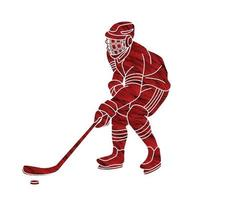 Ice Hockey Player Action vector