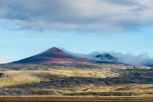 vista de un volcán foto