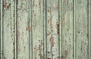 Fondo de textura de patrón de superficie de madera vieja pintada con pintura verde foto