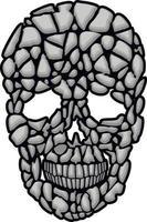 stone skull-grunge vintage design t shirts vector