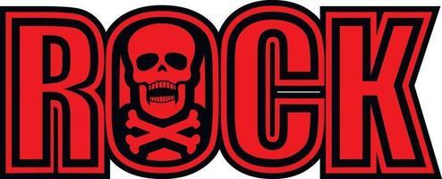 rock skull-grunge vintage design t shirts vector