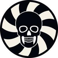 Gothic sign with skull, stencil, grunge vintage design t shirts vector