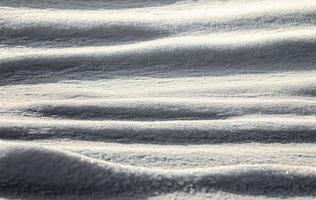 Snow field in the afternoon, no people, color cold winter background pattern photo