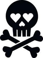 Valentine's day skull vector