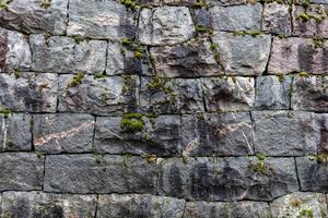 pared de roca vieja foto