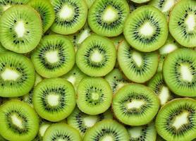 Kiwi slices as textured background photo