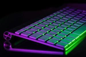 teclado iluminado de colores foto