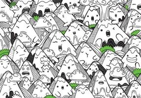 Cute coloring for kids with Mountains vector