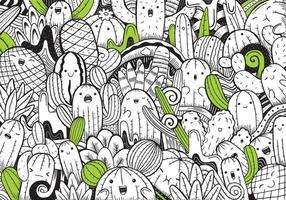 Cute coloring for kids with Cactus vector