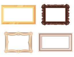 Set of empty picture frames. vector