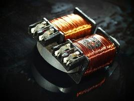 Double coil with burnt winding photo