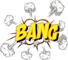 Comic speech bubble with bang text vector