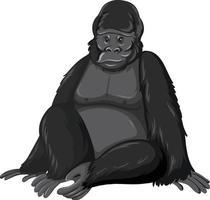 Gorilla wild animal on white background vector
