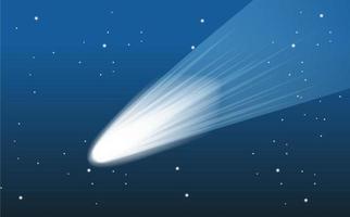 asteroide cayendo en el espacio exterior vector