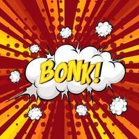 Bonk redacción bocadillo de diálogo cómico en ráfaga vector