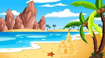 Tropical beach landscape at daytime scene vector
