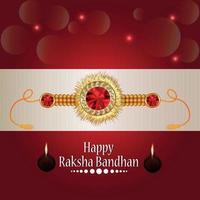 Ilustración vectorial de feliz tarjeta de felicitación raksha bandhan vector