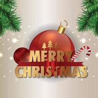 Merry christmas invitation holiday greeting card vector illustration and greeting card