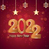 Tarjeta de felicitación de celebración de feliz año nuevo 2022 con ilustración vectorial vector