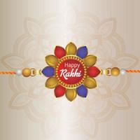 raksha bandhan realista con rakhi creativo vector