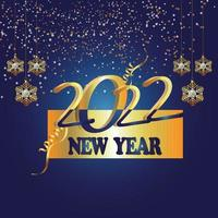 feliz año nuevo diseño de fiesta 2022 vector