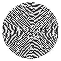 formas circulares orgánicas, patrón abstracto de impresión digital vectorial, diseño de huellas dactilares vector