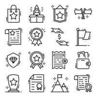 conjunto de iconos de premios y medallas vector