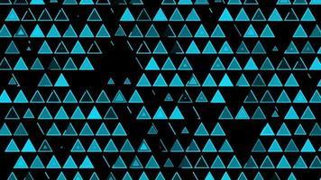 fundo de triângulo de tecnologia hud video