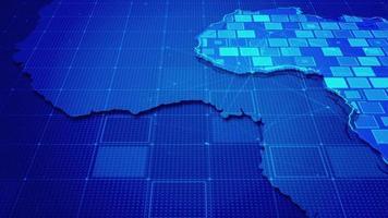 rectángulos digitales en un mapa de áfrica video