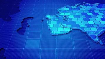 rectángulos digitales en un mapa de asia video