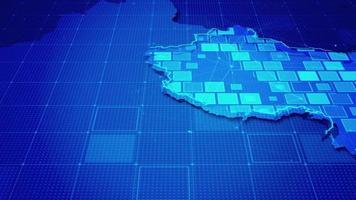 rectángulos digitales en un mapa de china video