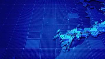 retângulos digitais em um mapa do Japão video