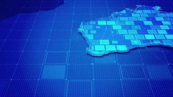 rectángulos digitales en un mapa de australia video