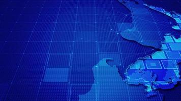 rectángulos digitales en el mapa de nueva zelanda video
