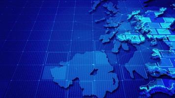 rectángulos digitales en un mapa de reino unido video