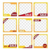 sale product frame promotion tag design for marketing vector