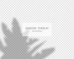efecto de superposición de sombras. sombras naturales aisladas sobre fondo transparente. ilustración vectorial. vector
