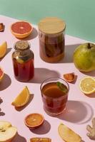 Delicious kombucha drink arrangement photo