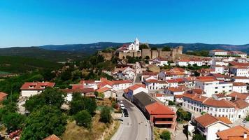 Aerial View of Penela Village in Portugal video