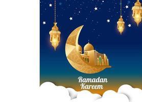 Vector illustration ramadan kareem background