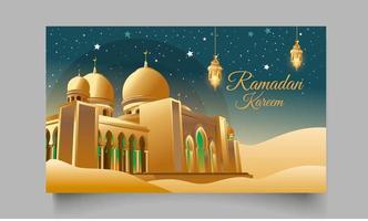 ilustración de ramadan kareem vector