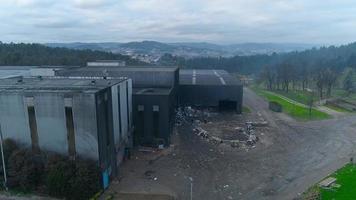 vista aérea da indústria de reciclagem